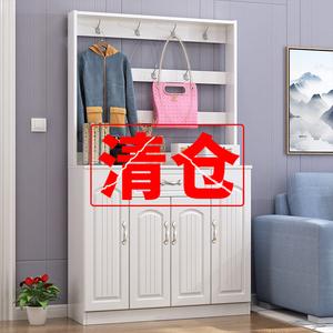鞋柜家用门口大容量欧式简约收纳欧式玄关柜鞋柜一体门厅柜衣帽架