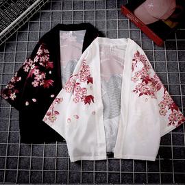 日系日式浮世绘开衫和服男女唐装新汉服中国风披风防晒服外套长袖