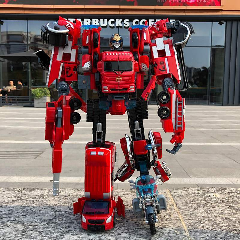 Hercules transformer combined with us version combined with deformation 5 King Kong Hercules robot fire Zun war will disappear