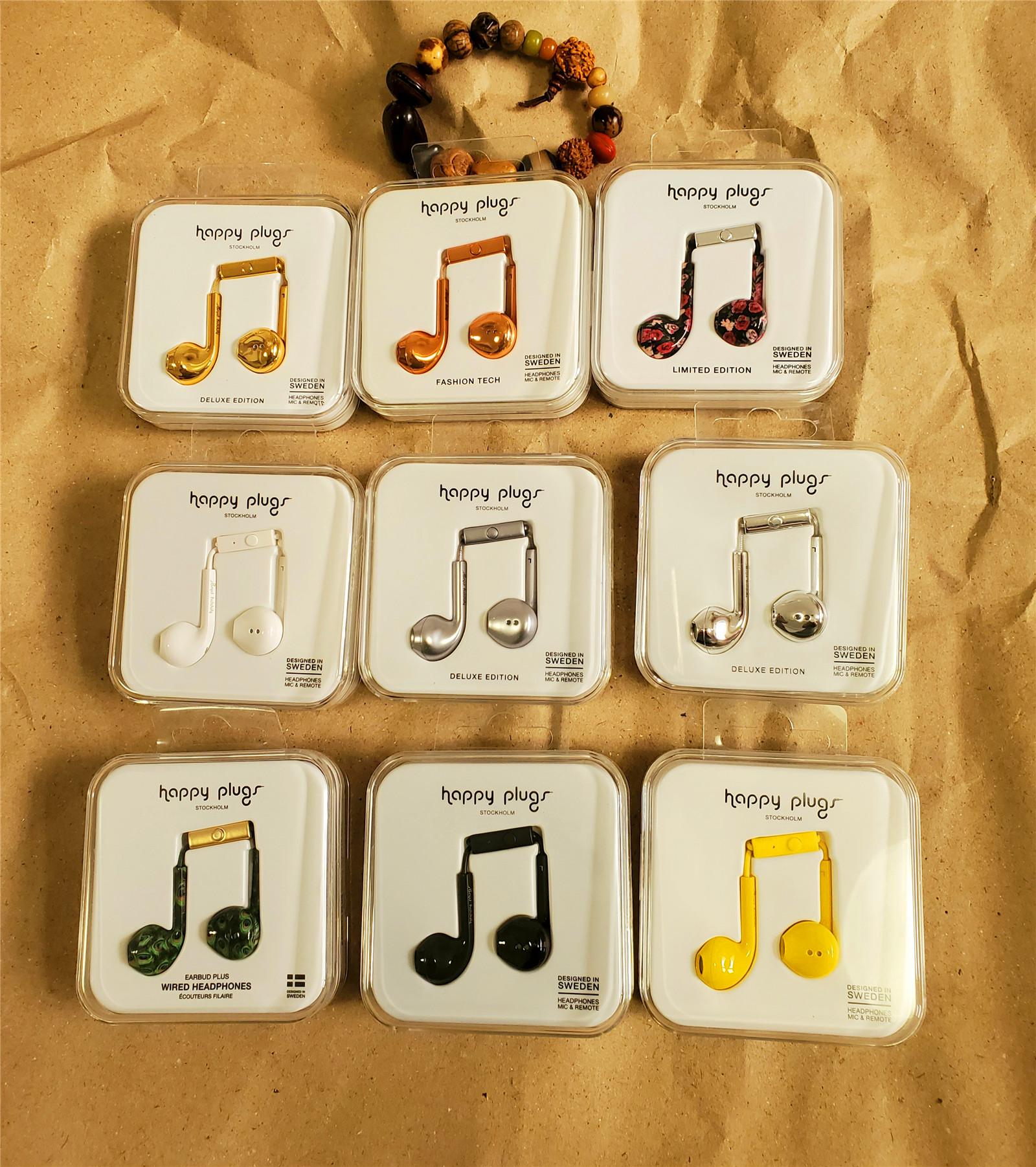 新到happy plugs Earbud Plus 瑞典轻奢耳机线控半入耳重低音通话