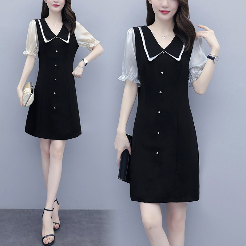 Summer 2020 new womens fashion V-neck French celebrity versatile slim dress package
