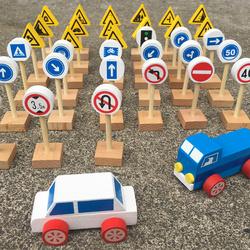 儿童早教交通标志玩具幼儿园交通标志牌图标大全汽车道路标识玩具
