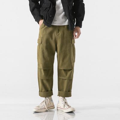 无影墙 日系美式原创重磅复古冬装工装裤 绿色18215 P90 控价120