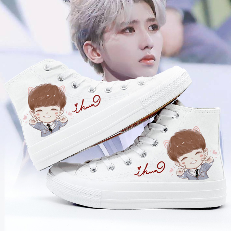 Cai Xukuns shoes of the same style, Korean fashion, little white shoes