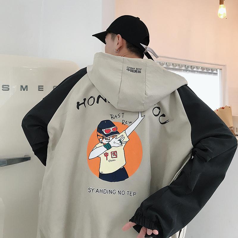 外套男士2019新款春季韩版潮流冬季流行春秋衣服春装工装男装夹克