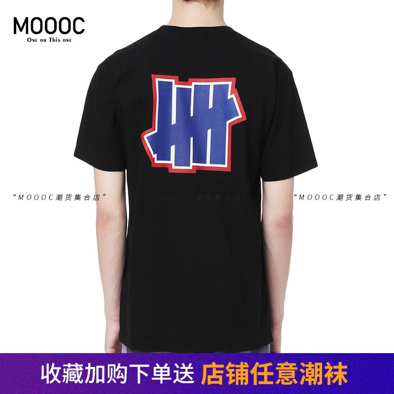 新品不败五道杠短袖潮牌UNDEFEATED男女嘻哈T恤背后大logo纯棉tee