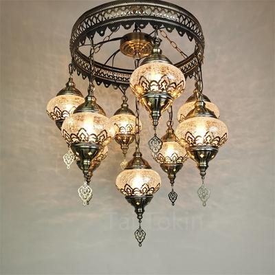 Homestay bedroom chandelier Turkey retro exotic hotel specialty restaurant bar Ottoman hollow carved chandelier