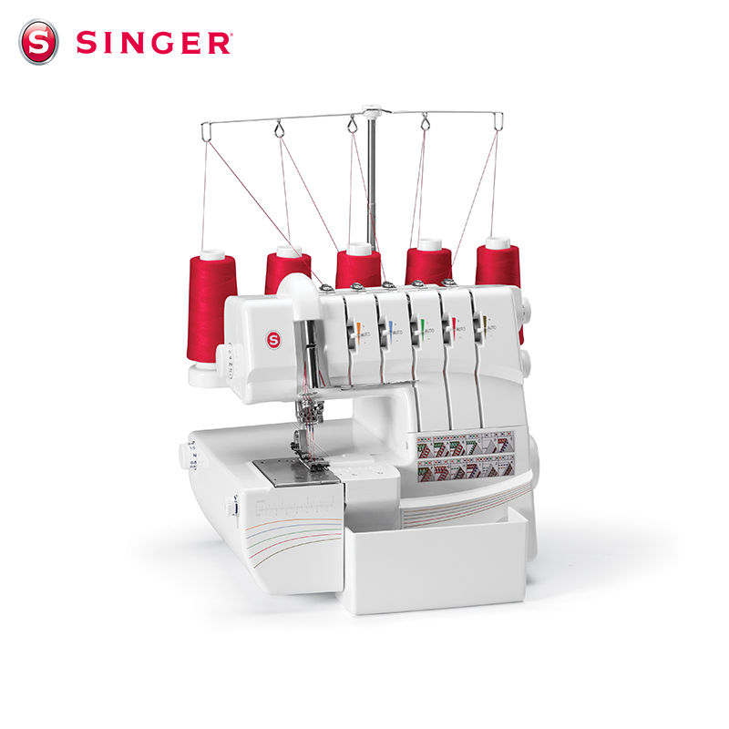 胜家缝纫机14T968DC多功能绷缝包缝一体机锁边密拷 SINGER拷边机