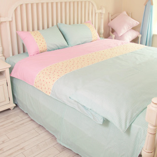 Spring and summer seasons universal original small fresh Sen female linen denim cotton princess bedding kit tide
