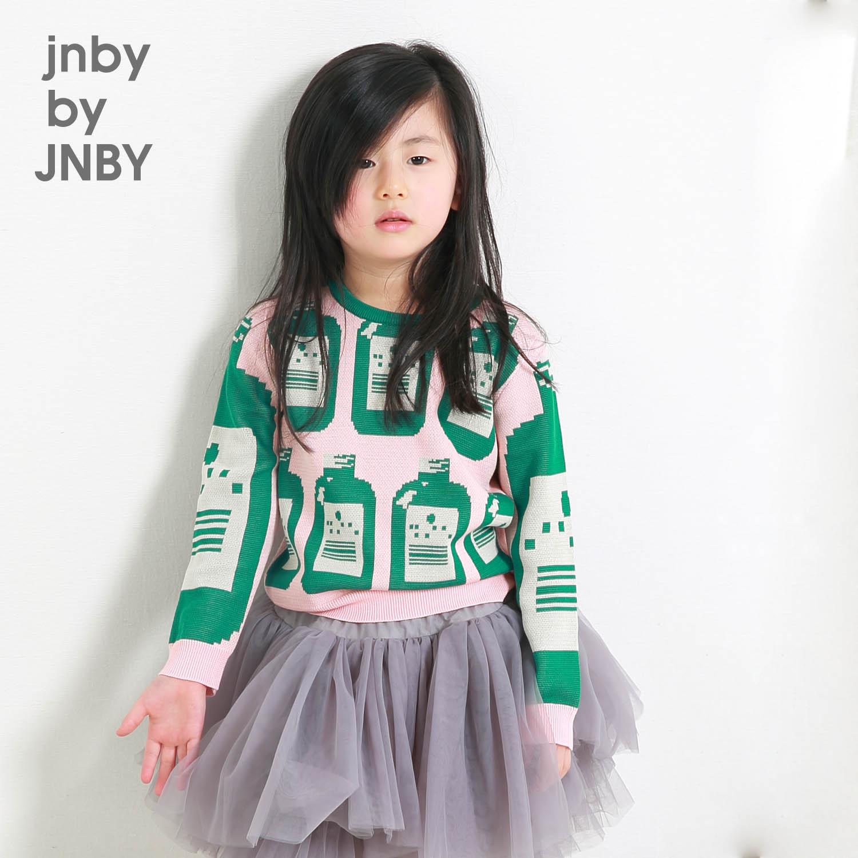 jnby by JNBY江南布衣 小童男女套頭毛衣春秋全棉提花1F282019