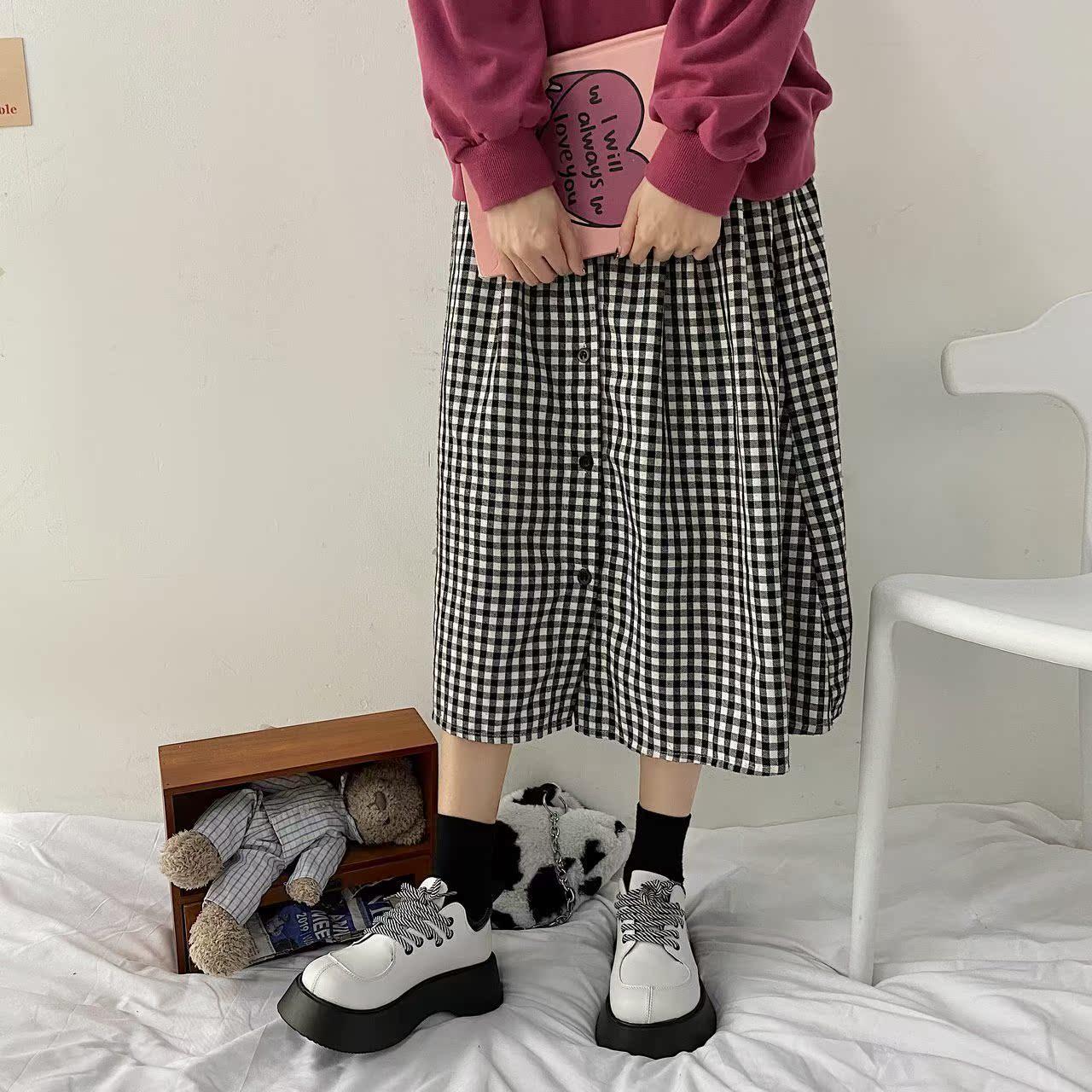 丑萌大头鞋潮女小众日系百搭通勤学生女鞋黑白色单鞋配JK洛丽塔