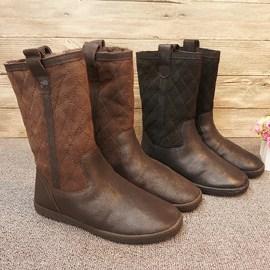 微瑕中筒靴  真皮羊毛一体雪地靴 橡胶底防滑保暖,保暖女靴