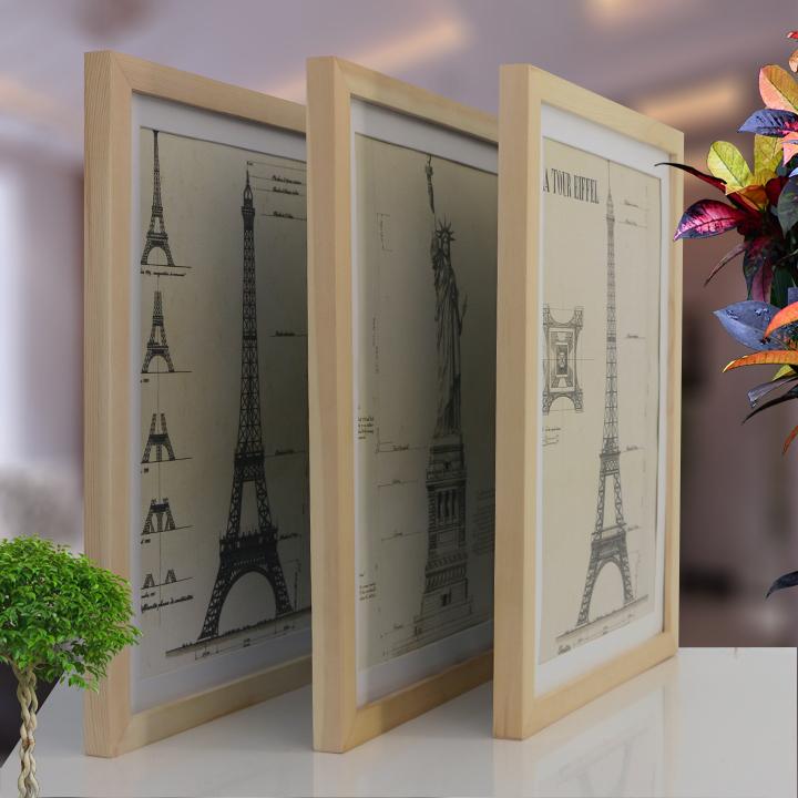 实木18寸20寸24寸28寸30寸32寸A3创意相框4开8K画框拼图海报框
