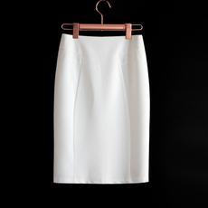 白色包臀裙子2020女夏工装裙开叉工作一步裙直筒半身裙中长款百搭