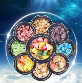 French imported 12 constellations fruit hard candy MINT GIFT BOX snacks iron box confession gift