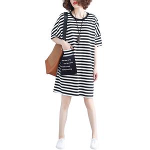 短袖t恤裙2020新款夏季韩版连衣裙