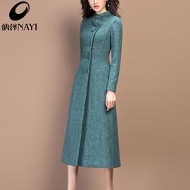 羊毛呢大衣女中长款2020新款秋冬季修身气质加厚呢子外套女装冬装