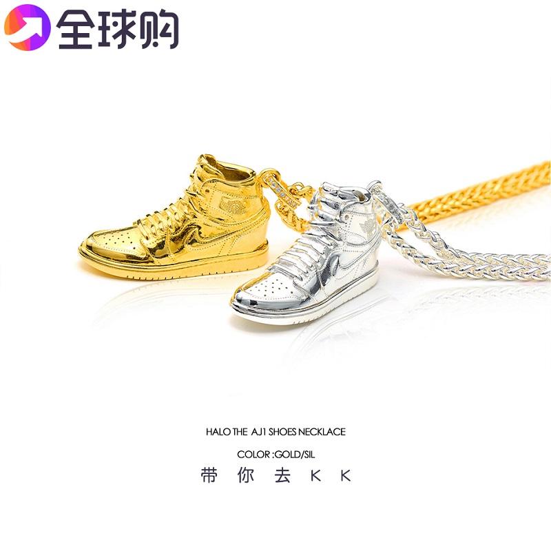 S925 silver aj1 Shoes Black Purple toe men and womens Pendant Fashion Brand hip-hop Necklace Valentines Day partner Necklace lettering