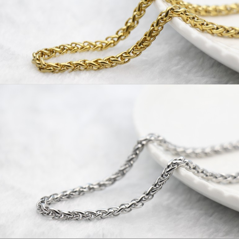 Aj11 mens jewelry chain V2 stainless steel 316 mens necklace flower blue chain 4mm thick Necklace single sports chain
