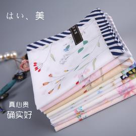 和木记(芬妮)女士手帕纯棉日本古风手绢擦汗中秋节礼物小手帕随身