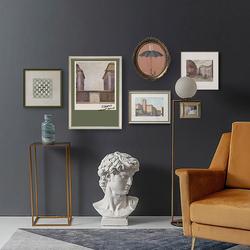 复古美式轻奢客厅照片墙餐厅挂画