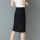 春秋职业裙高腰过膝半身裙中裙弹力一步裙包臀裙包裙中长款正装裙