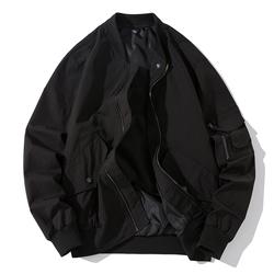 秋冬季外套男空军ma1飞行员夹克宽松余文乐加厚棒球服男潮牌棉衣