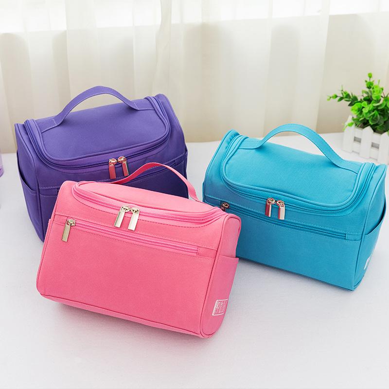 旅行便携化妆包女韩版大容量化妆袋多功能化妆品手提收纳包洗漱包