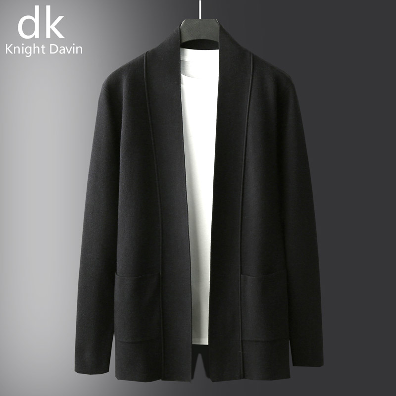 2021 Spring and Autumn New Mid-length Men's Cardigan Knitwear Outer Sweater Thin Jacket Business Casual Men's Sweater