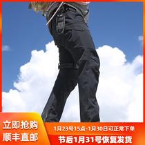 龙牙逆锋战术软壳抓绒裤男士户外防风摇粒绒保暖战术长裤铁雪君品