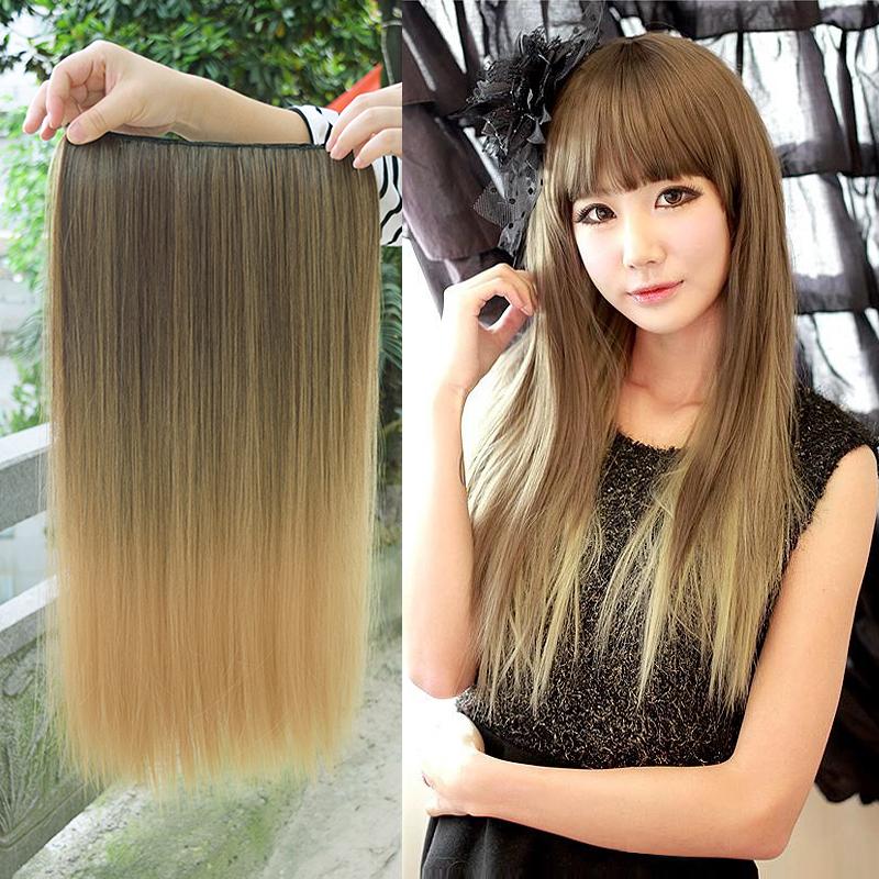 Цвет выделяет прямые волосы парик женщина прокатки пять карт прямой моделирование высокой температуры проволоки
