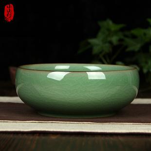 多功能复古中冼 龙泉青瓷陶瓷创意烟灰缸欧式 家居办公室摆件 包邮