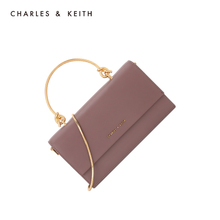Charles & Keith Long Wallet ck6-10840136 metal handle flip wallet messenger bag