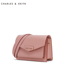 Charles & Keith envelope bag ck2-90680630 flip solid envelope postman Bag Shoulder Bag
