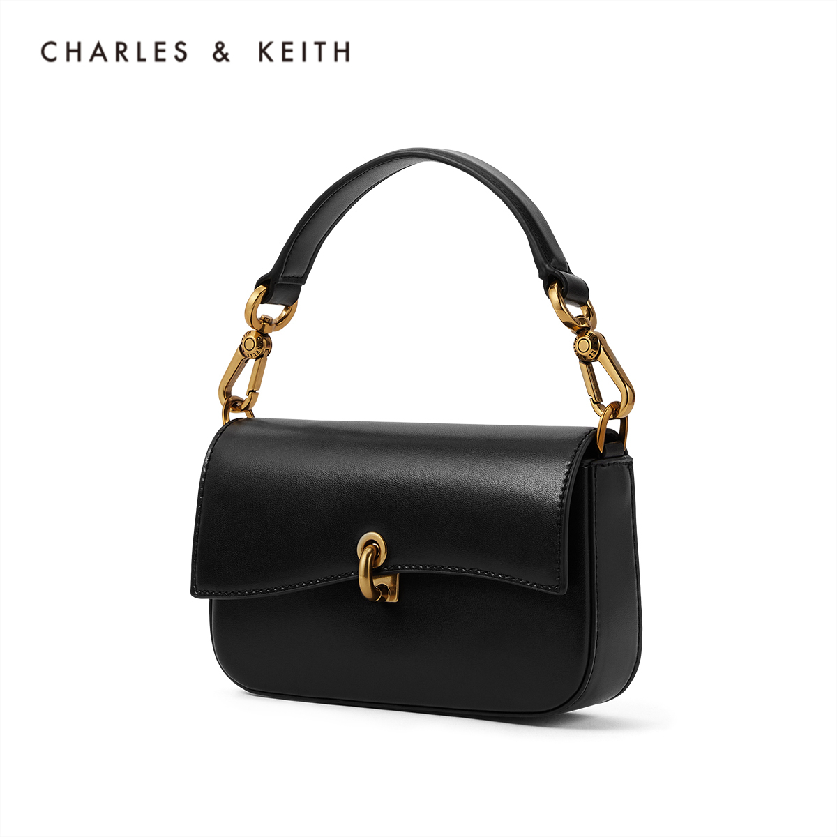 CHARLES&KEITH new product underarm bag CK2-80270609 Ladies curved flip-covered shoulder bag