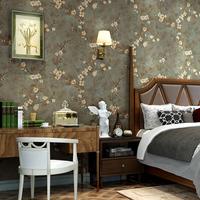 海民复古美式乡村墙纸精压3D 田园卧室客厅电视背景墙壁纸无纺布