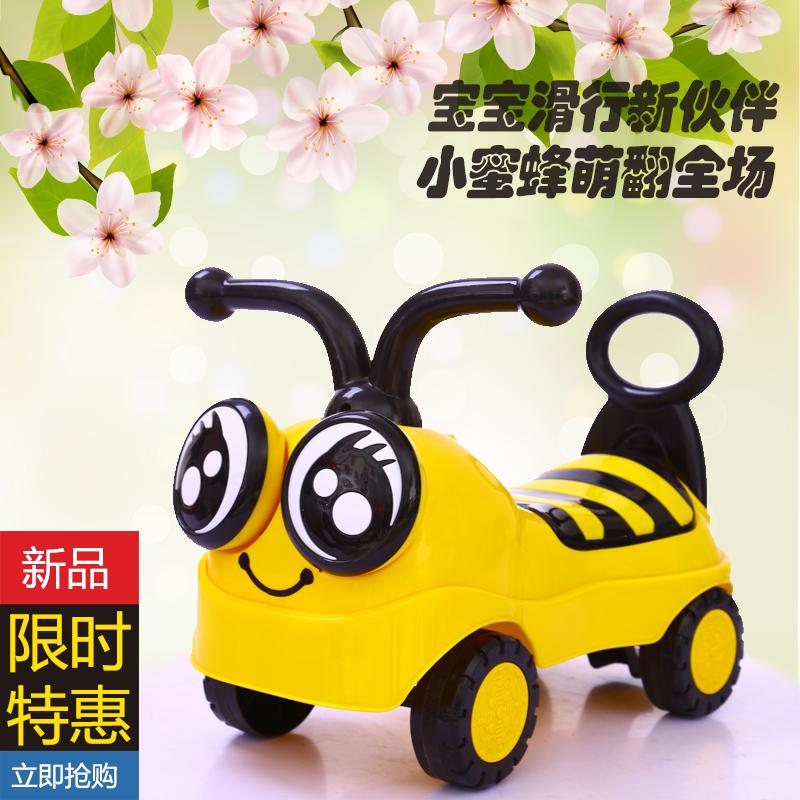 Новый небольшой пчела ребенок скольжение скольжение автомобиль помогите автомобиль 1/2-3 лет ребенок скольжение автомобиль shally автомобиль четырехколесный с музыкой