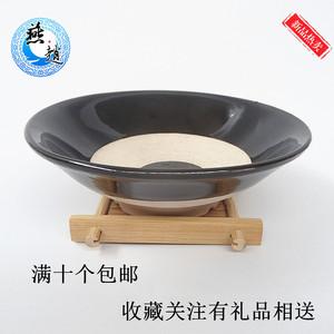 仿古酒碗土蒸碗古代酒碗道具黑碗土陶碗直销孟婆汤碗摔酒碗喝酒碗