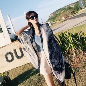 大披肩防晒民族风丝巾女海边西藏围巾旅游沙滩巾春夏两用空调