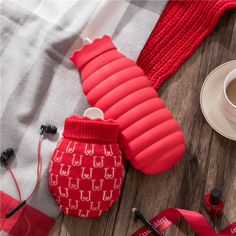 佐敦朱迪硅胶热水袋可微波炉加热暖水袋注水暖手袋随身小型暖手宝