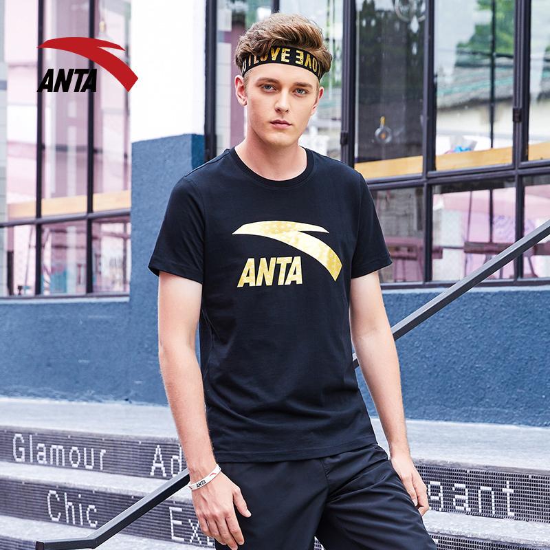 安踏男士短袖T恤2018夏季新品圆领上衣半袖舒适潮衣男装官方正品