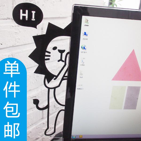 屏幕显示器侧边留言板透明电脑便利贴留言板便签板便贴纸韩国文具