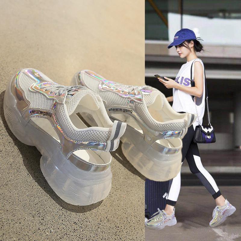 运动凉鞋女2019夏季新款增高罗马镂空透气松糕厚底包头休闲女鞋