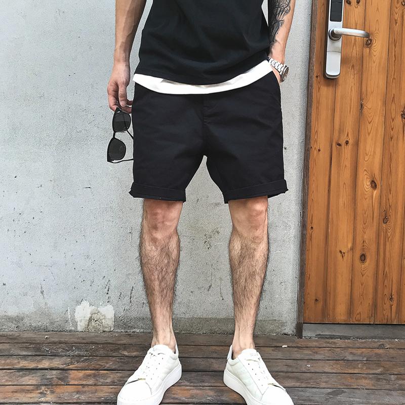 徐太浪工作室夏季美式潮流极简城市风纯色直筒浪叔力荐男休闲短裤