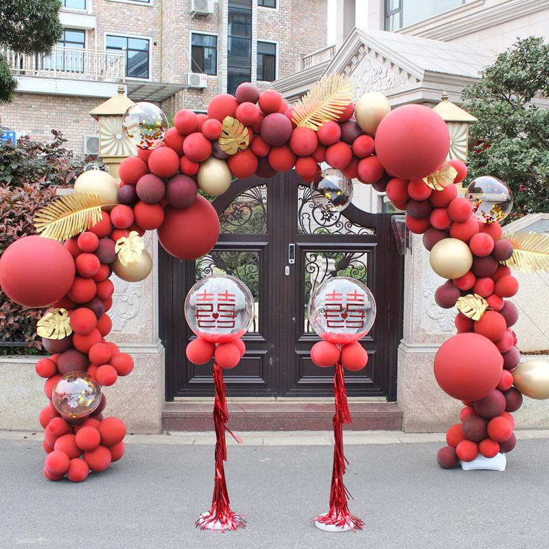 气球拱门支架子店铺开业结婚礼生日婚庆场景布置装饰门汽球立柱
