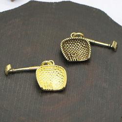 纯手工黄铜福字簸箕迷你模型钥匙扣挂件装饰男女创意个性吊饰