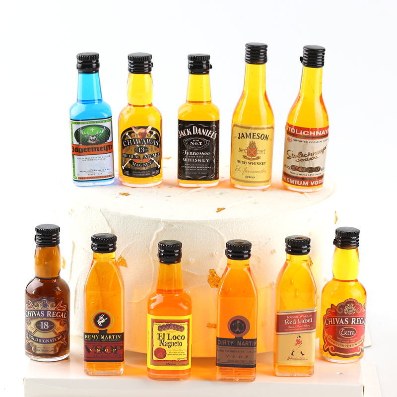 Jack Denny whisky wine accessories mini bottle Chivas beer birthday cake decoration accessories