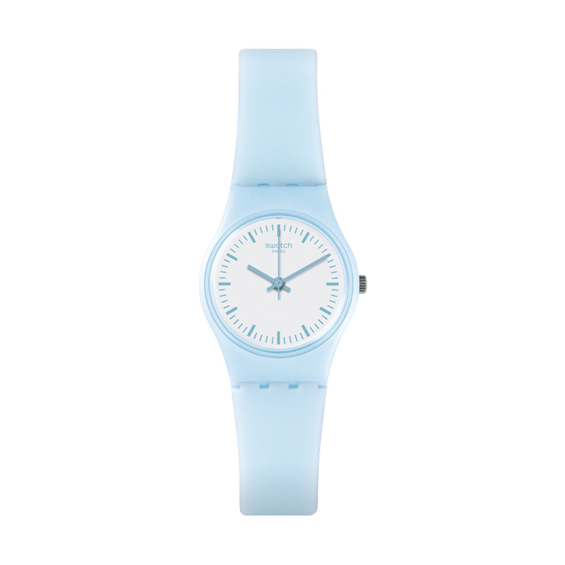 Swatch/斯沃琪手表 淑女系列清新蓝色学生石英女表晴空万里LL119