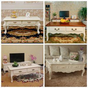 欧式简约现代客厅茶几小户型电视柜茶几组合田园实木小桌子地中海