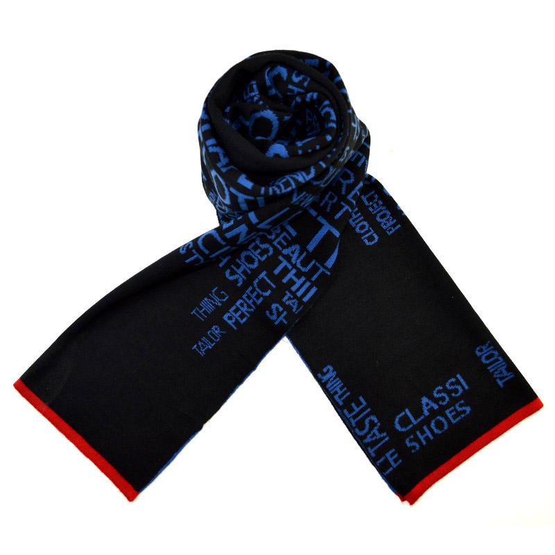 男士围巾韩版冬季青少年学生情侣简约时尚百搭保暖羊毛围巾礼盒装